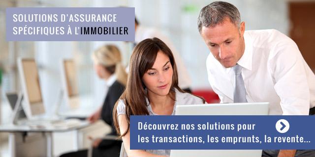 Solutions d'assurance pour l'immobilier